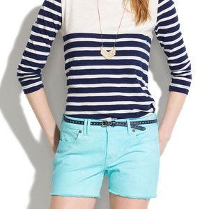 Madewell Denim Cutoff Shorts in Seaside Blue Sz 29